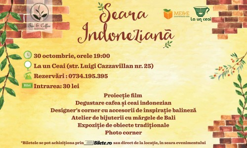 Seara indoneziana tea&coffee festival