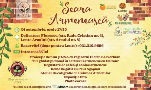 Seara armeneasca tea&coffee festival